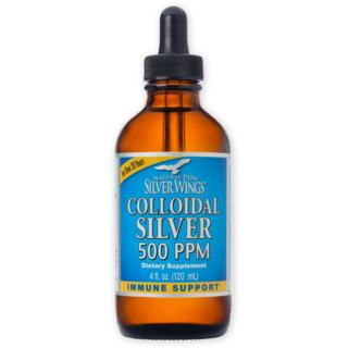 Colloidal Silver - 500ppm 4oz dropper Natural Path Silver Wings