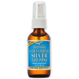 Colloidal Silver - 500ppm 2oz Spray Natural Path Silver Wings
