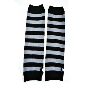 Stripe Armwarmers – Black/Grey