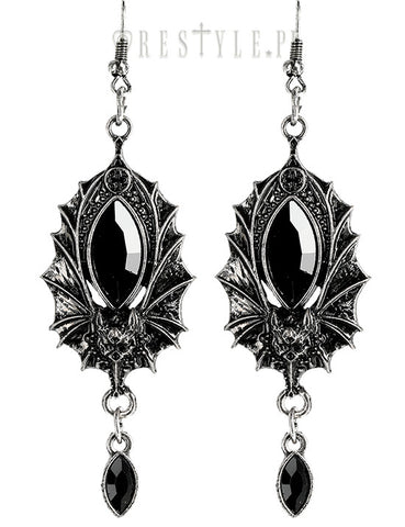 Bat Earrings Silver