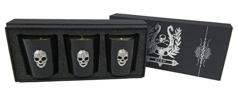 Set of 3 Crystal Skull Votives