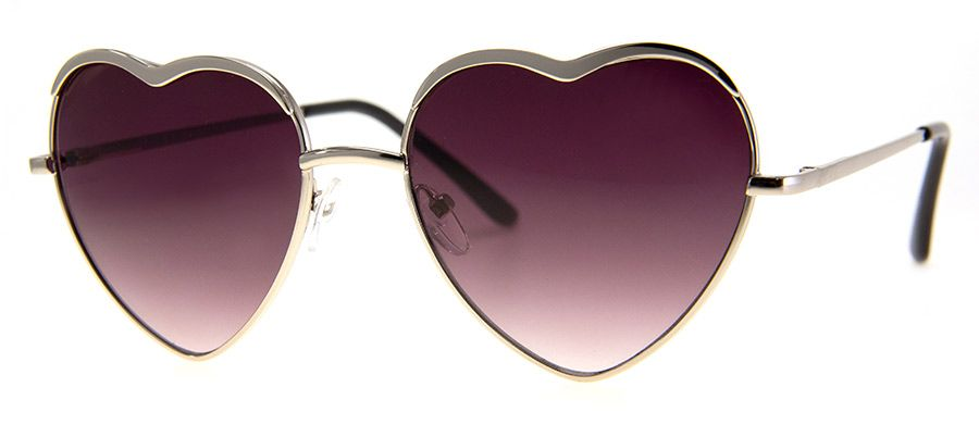 Heart of Glass – Silver Sunglasses
