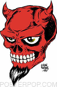 Forbes Devil Skull Sticker