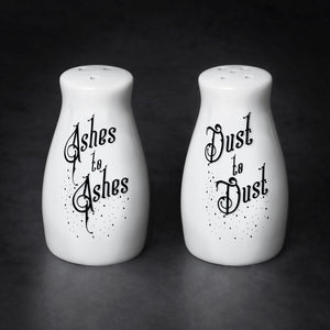 Ashes to Ashes/Dust to Dust Salt & Pepper Shaker Set