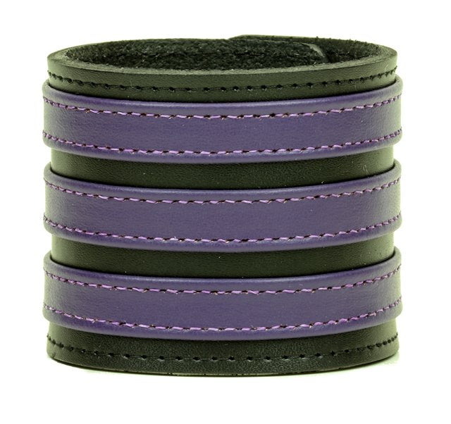 Three Row Purple Strap Soft Bracelet