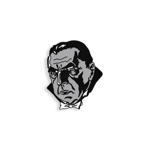 The Count - Black & White Maniac Monsters Enamel Pin
