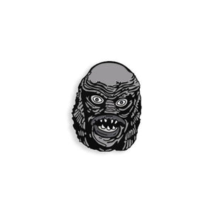 The Creature Black & White Maniac Monsters Enamel Pin