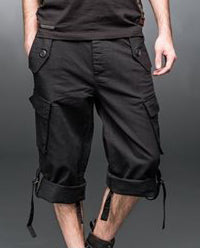 Black Shorts with Side Pockets