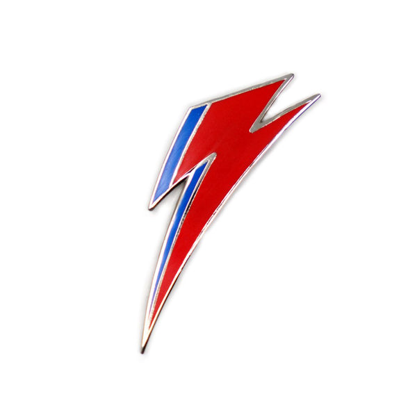 David Bowie Aladdin Sane Bolt Enamel Pin