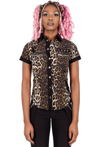 Cat's Meow Cap-Sleeve Shirt