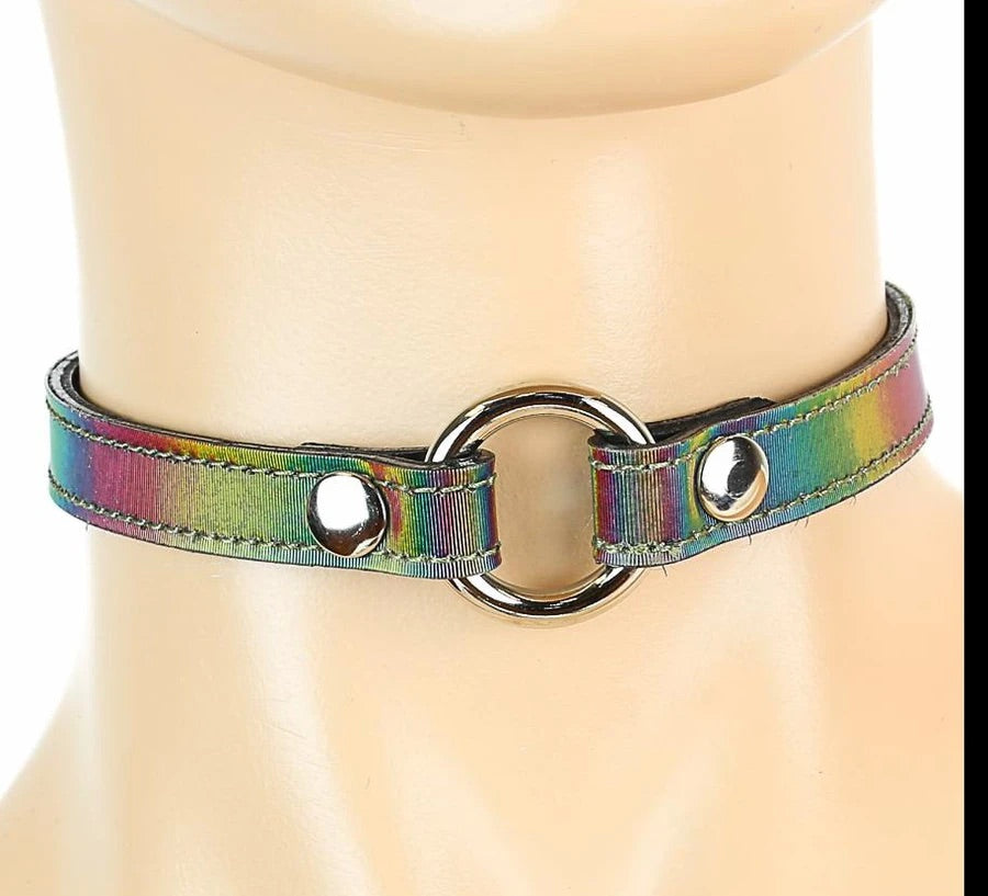 "O-Ring 1/2"" Choker - Rainbow"