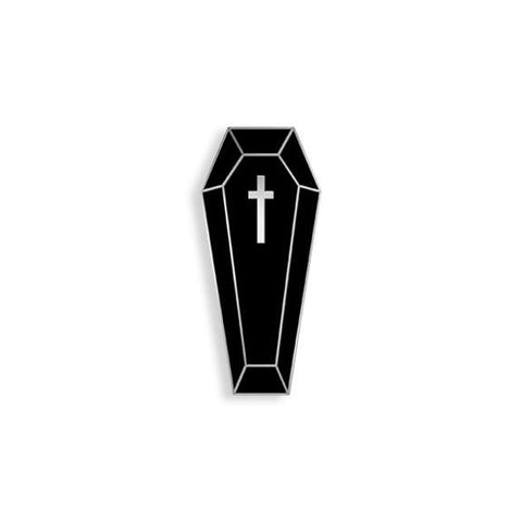 Coffin Enamel Pin