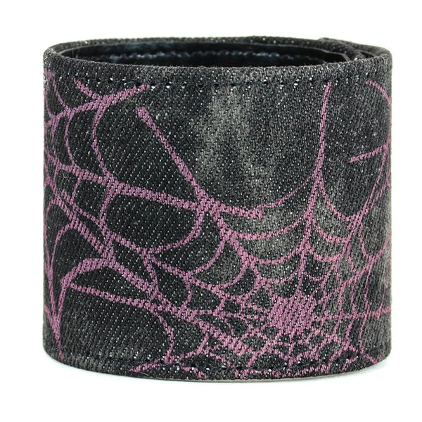 Purple Spider Net Denim Bracelet