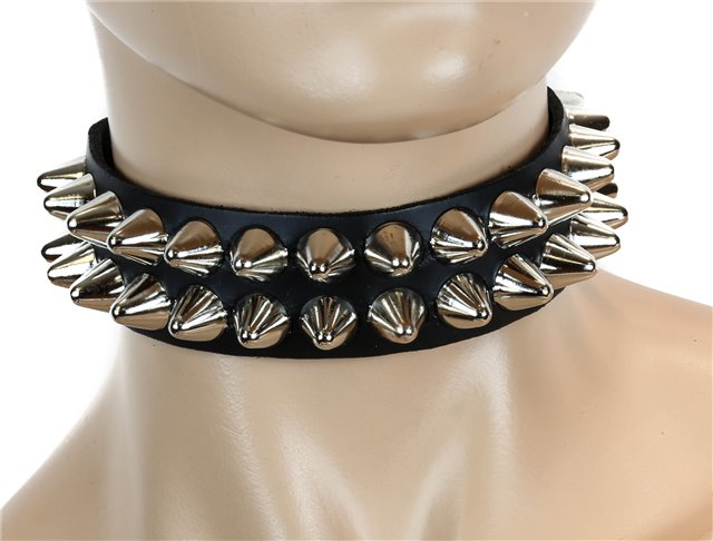 UK77 2 Row Large Conehead Choker