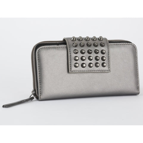 GG Rose Metallic Wallet in Gunmetal