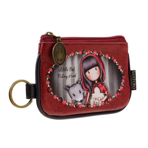 Gorjuss Keyring Zip Purse - Little Red Riding Hood
