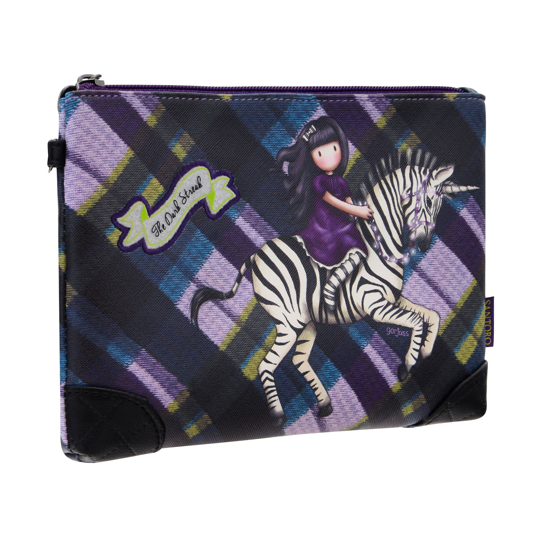 Gorjuss Tartan Accessory Pouch - The Dark Streak