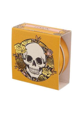 Gothic Gifts Skull & Roses Lemon Lip Balm Tin