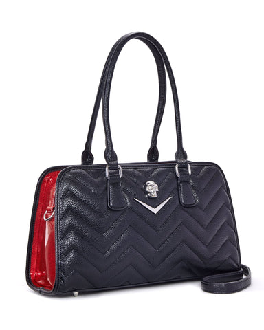 Hellraiser Tote Black and Red Venom Sparkle