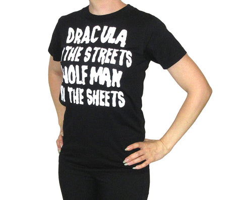 Dracula/Wolfman - Woman's Black T-shirt
