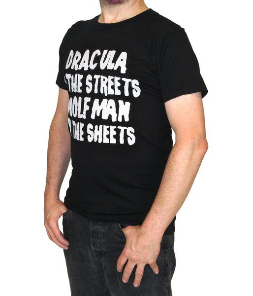 Dracula/Wolfman - Mens Black T-Shirt