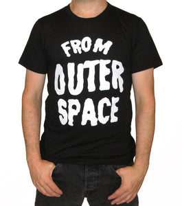 From Outer Space Mens Black T-shirt