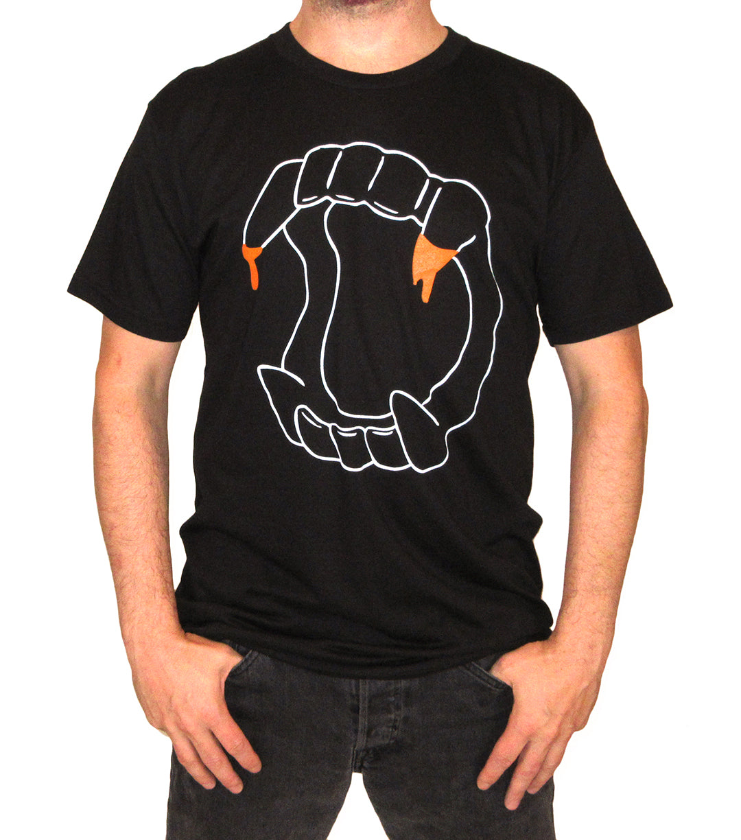 Fang Me Mens Black T-shirt