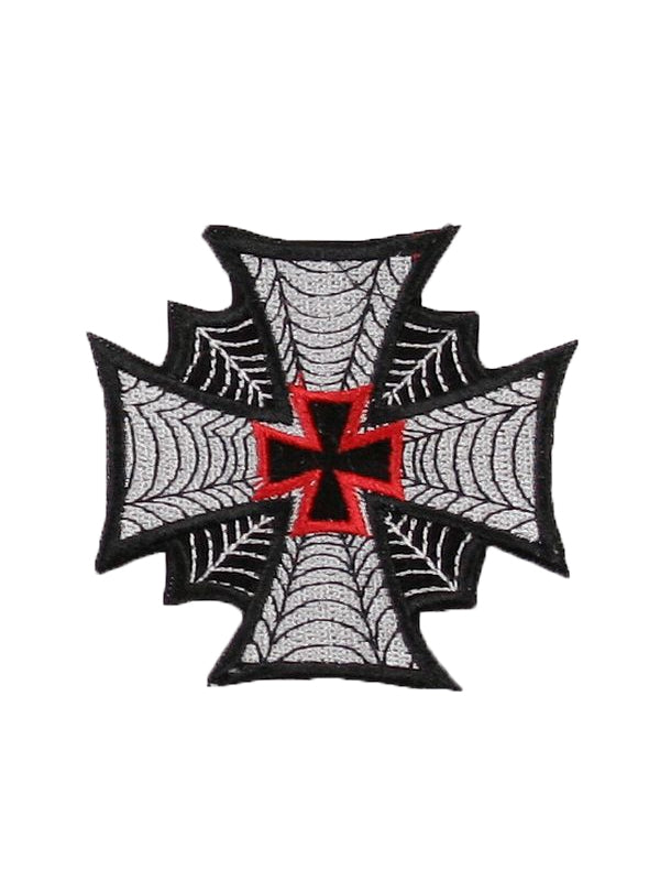 Iron Cross with Spider Webs Patch