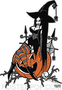 Pigors Halloween Queen Sticker