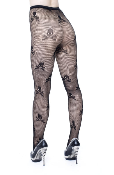 Poison Stockings with Skull and Crossbones