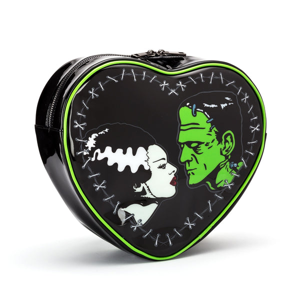 Bride & Frankenstein Mini Heart Shaped Backpack