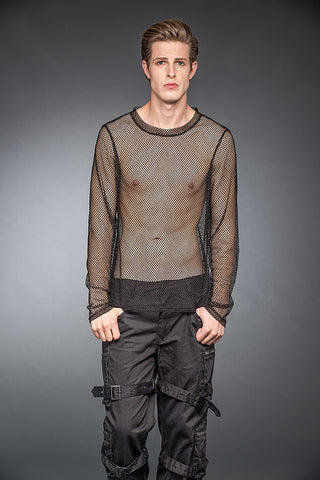 Transparent Net-Shirt