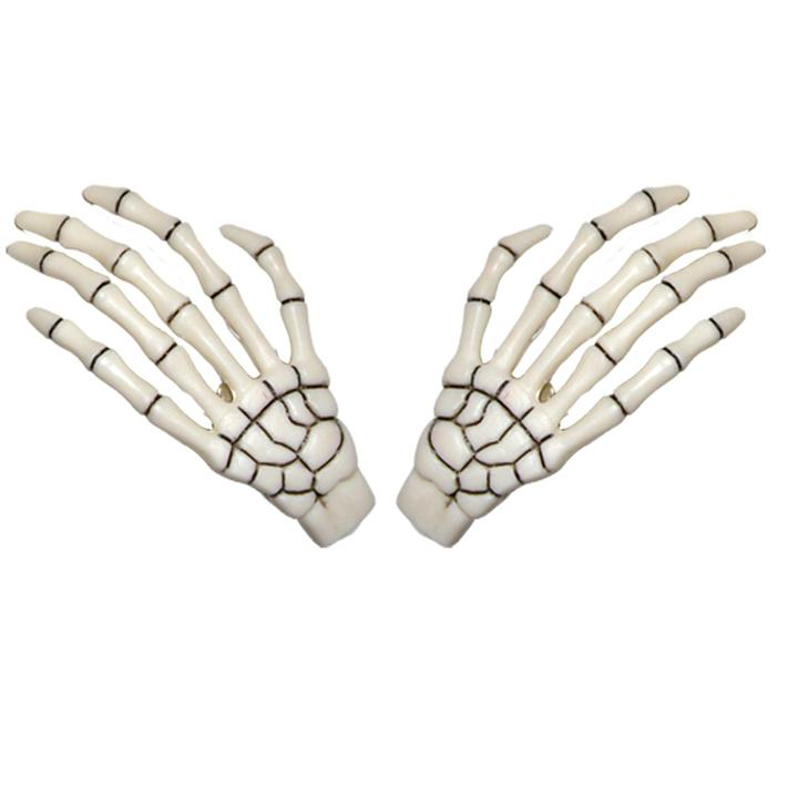 Skeleton Bone Hand Hairslides White