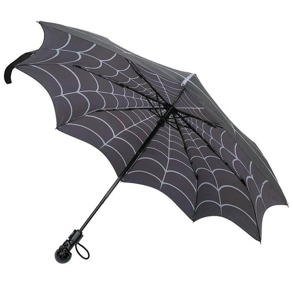 Skull Handle Spiderweb Umbrella