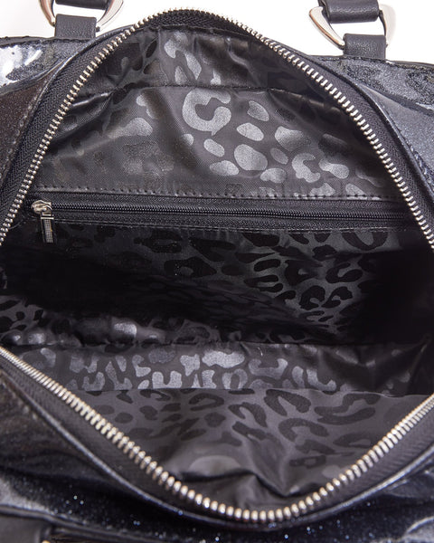 Skull and Roses Tote Black Matte with Midnight Sparkle