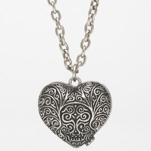 Filigree Heart Stash Pendant Necklace