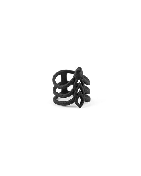 Sting of Truth Ring in Black