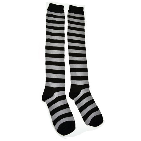 OK Stripe Socks – Black/Grey