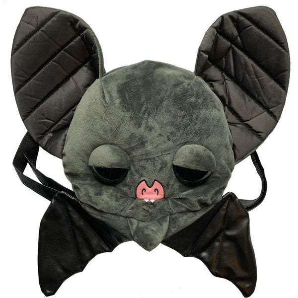 Sugarfuled Bat Black Plush Backpack