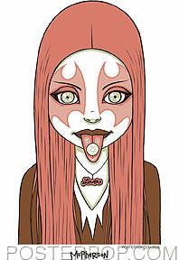 Tara McPherson Pink Metal Sticker