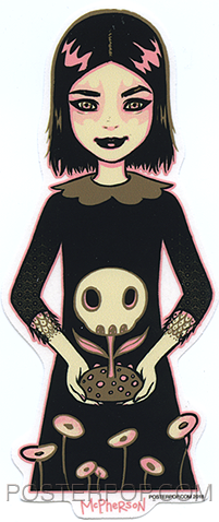 Tara McPherson Giving Sticker