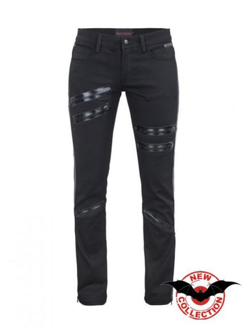 Pants with Black Zippers