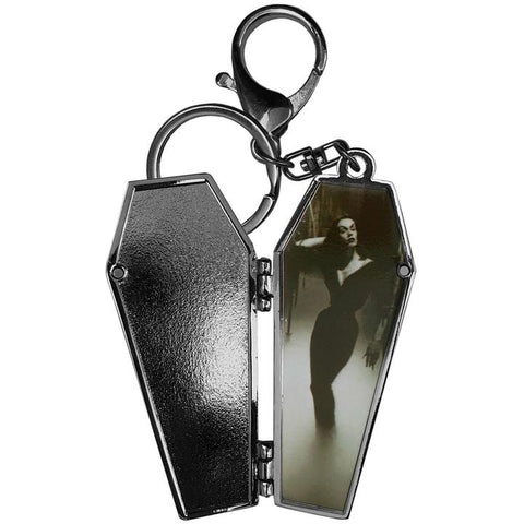 Vampira Open Coffin Mist Keychain