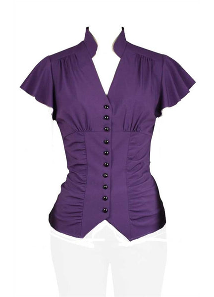 Victorian Purple Blouse