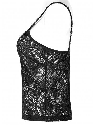 Black Lace Opium Top