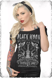 Black Moon Off Shoulder Tee