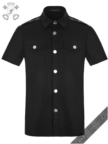 Casual black men's shirt