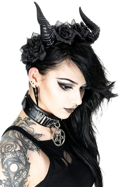 Beleth Rose Crown Gothic Headpiece