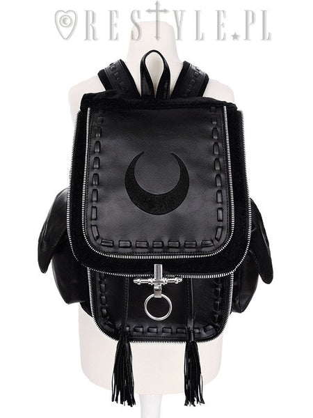 Crescent Black Backpack