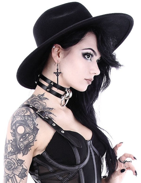 Double O-Ring Collar Gothic Choker